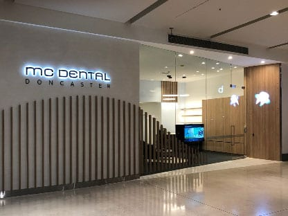 Doncaster Dental Clinic MC Dental Clinic Shopping Front Westfield