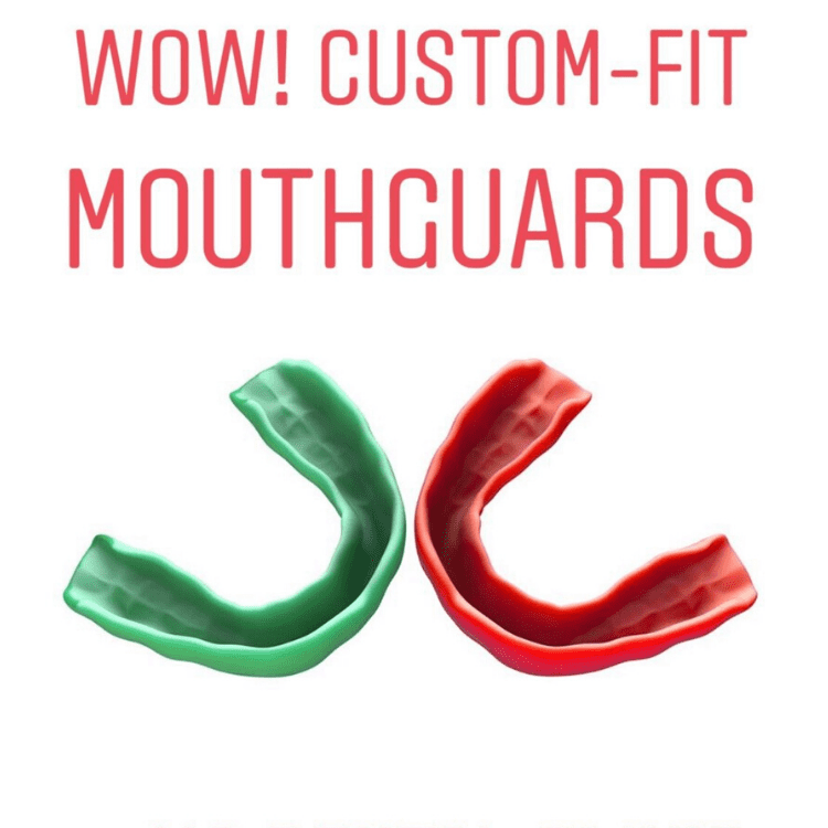 A custom-fitted sports mouthguard is best