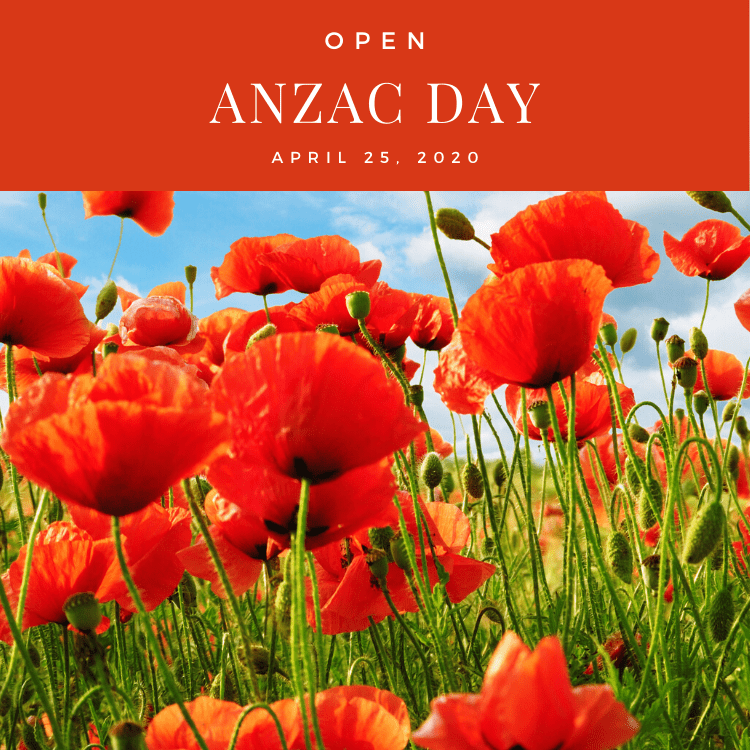 We're open on ANZAC day